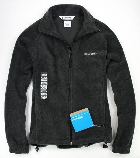 美國百分百【全新真品】Columbia 哥倫比亞 翻領 保暖 防風 禦寒 毛絨 修身 運動夾克 外套 黑