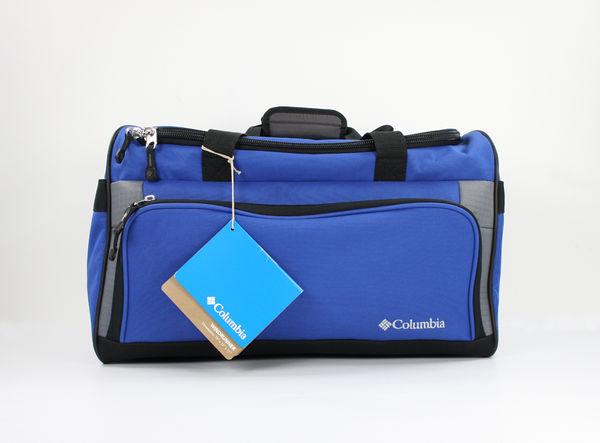 美國百分百【Columbia】 哥倫比亞 旅行袋 手提袋 大容量 側背 斜背 男女適用 藍色 美國寄件