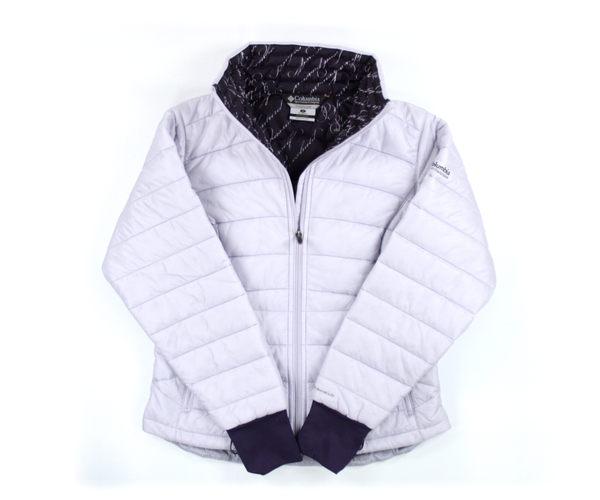 美國百分百【全新真品】Columbia 哥倫比亞 女生 立領夾克 保暖外套 淡紫色 美國寄件