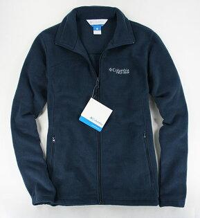 美國百分百【全新真品】Columbia哥倫比亞男運動外套翻領夾克保暖毛絨防寒藍SM特價
