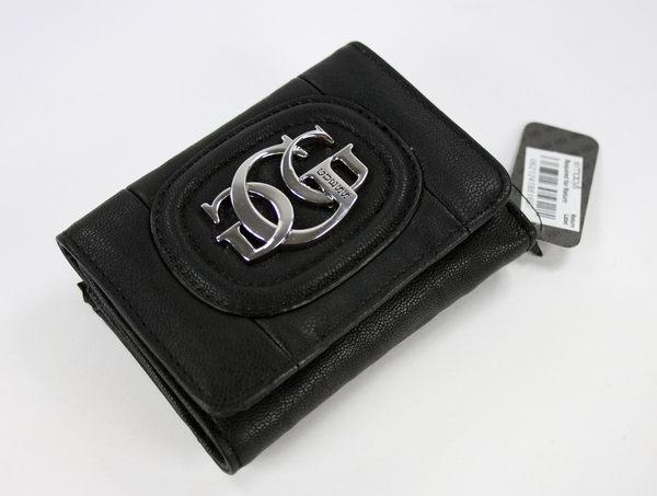 美國百分百【全新真品】GUESS 女用 黑色 大G logo 三折 皮夾 皮包 錢包 皮包 可超取