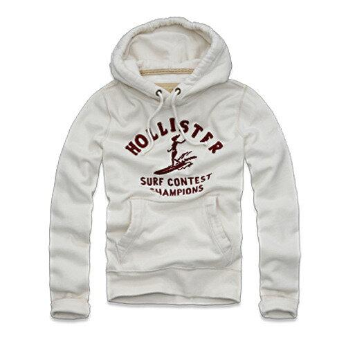 美國百分百【全新真品】Hollister co 衝浪 女郎 米白 帽T 連帽 外套 100%cotton 休閒風 現貨 M號