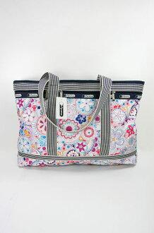 美國百分百【全新真品】Lesportsac 7008 3038 花朵 手提包 旅行包 外出包 側肩背包 門市