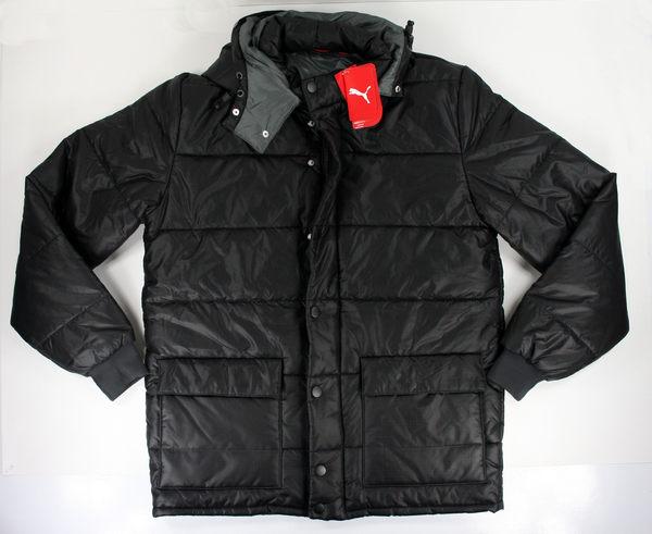 美國百分百【全新真品】PUMA 男款 黑色 夾克 立領外套 保暖 舖棉 M號 B936
