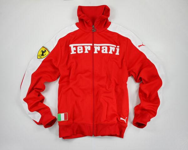 美國百分百【全新真品】Ferrari Puma Track SweatTop 經典款 法拉利賽道 男外套 紅色 夾克 美國