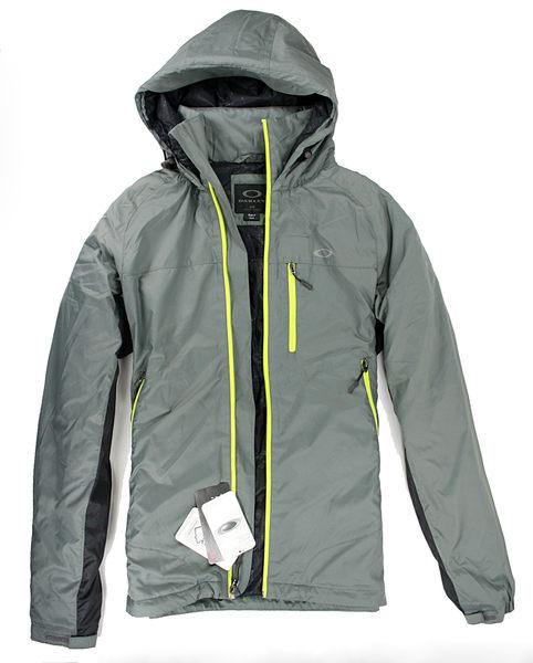 美國百分百【全新真品】Oakley 男大衣 防風 防水 超輕 長外套 收納帽 Thinsulate 3M專利 灰 S號 C057