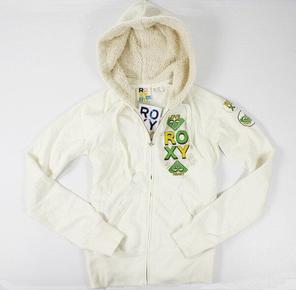 美國百分百:美國百分百【全新真品】ROXY黃綠愛心logo設計款女生外套外衣帽TXSM號C770