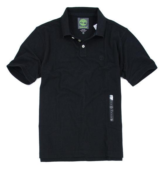 美國百分百【全新真品】Timberland 型男 POLO杉 素面 網眼 上衣 經典 百搭 黑色 C289