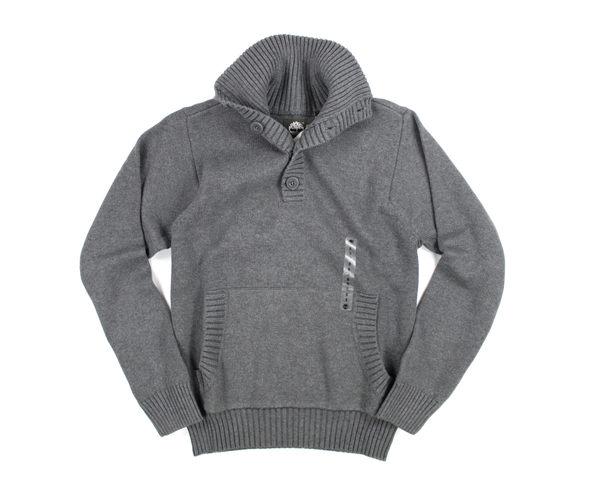 美國百分百【全新真品】Timberland 男生 高領 針織衫 保暖上衣 棉T 灰色 美國寄件