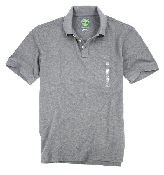 美國百分百【全新真品】Timberland 型男 POLO杉 素面 網眼 上衣 百搭經典款 灰色 M L號 C289