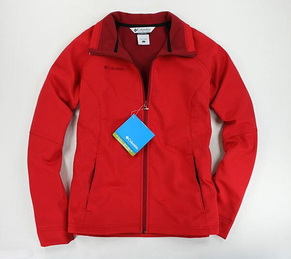 美國百分百【哥倫比亞】Columbia 中空纖維 男女 內鋪棉 拉鍊 運動 外套 休閒 夾克 紅 L XL
