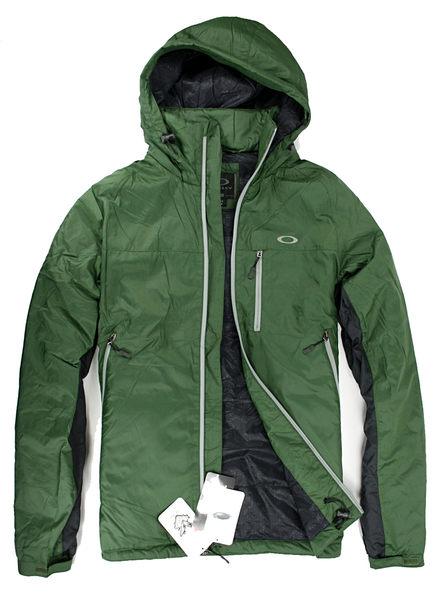 美國百分百【全新真品】Oakley 男大衣 防風 防水 超輕 長外套 收納帽 Thinsulate 3M專利 綠 M XL號C057