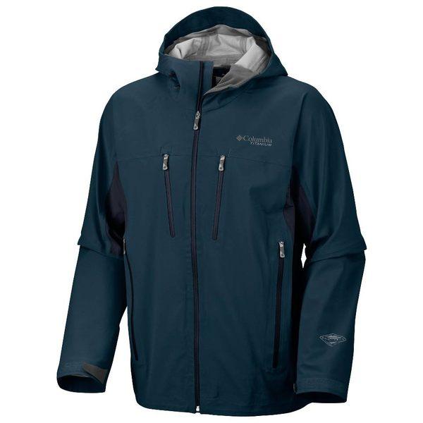 美國百分百【哥倫比亞】Columbia omni gore-tex等級 男 薄防水夾克 外衣 風衣 連帽外套 深青藍 S M XXL B716