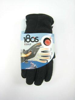 美國百分百【全新真品】180S 美國專利 充氣式 絨毛 手套 毛套 黑色 超保暖 騎士 男配件 L號