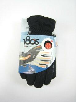 美國百分百【全新真品】180S 專利 男配件 冬季 保暖 騎士 手套 止滑 束口 黑色 L 門市面交