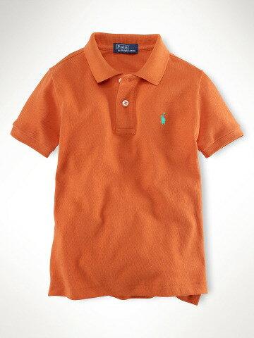 美國百分百【全新真品】Ralph Lauren children 純棉 童裝 小朋友 短polo衫 橘 RL 親子裝 4 5歲 C782