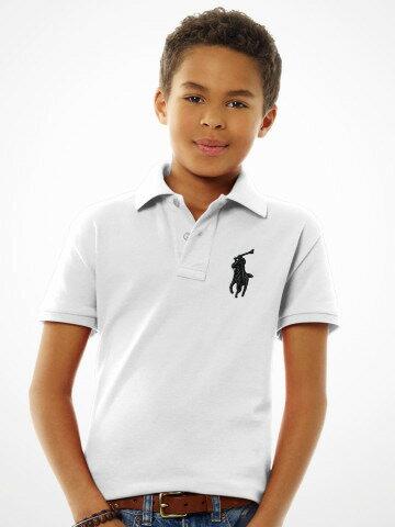 美國百分百【全新真品】Ralph Lauren 青年版 男孩 大馬 網眼 純棉 短袖 Polo衫 白色 RL 特價