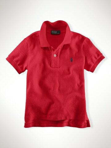 美國百分百【全新真品】Ralph Lauren children 童裝 小朋友 短polo衫 紅色 純棉 RL 親子裝 7歲