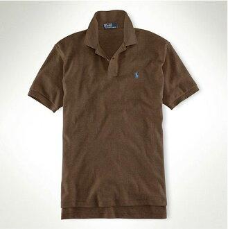美國百分百【全新真品】Ralph Lauren RL 冬季 復古款 男 短袖 polo衫 深色 咖啡 XS S號 超取