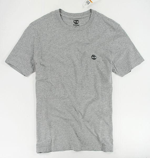 美國百分百【全新真品】Timberland 灰色 T恤 T-shirt 風格 雙面logo 圖案 短T 男T logoT S號