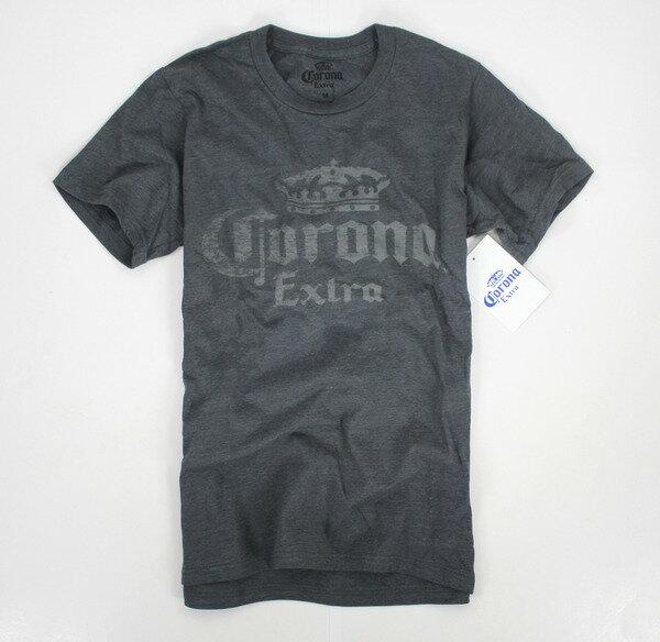 美國百分百【全新真品】corona extra 皇冠 文字T 短袖 T恤 鐵灰色 棉T M號 T-shirt 板橋 面交