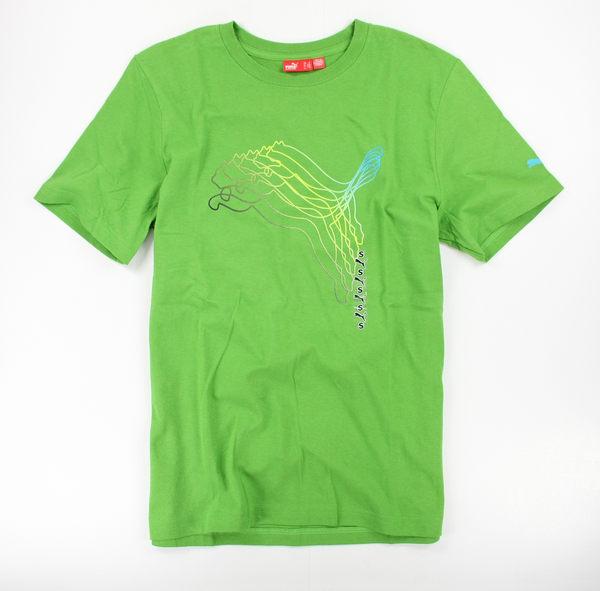 美國百分百【全新真品】puma 翠綠 豹 logo 設計 T恤 型男 休閒 運動 上衣 美國空運 全新 純棉
