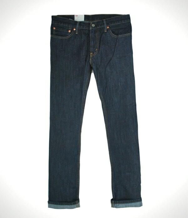 美國百分百【全新真品】Levi s 514 Slim Straight 男 牛仔褲 直筒 長褲 深藍 免運 30 32 34 36腰