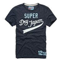 極度乾燥商品推薦到美國百分百【Superdry】極度乾燥 T恤 上衣 T-shirt 短袖 圓領 短T 雪花 藏藍 L XL號 E693就在美國百分百推薦極度乾燥商品