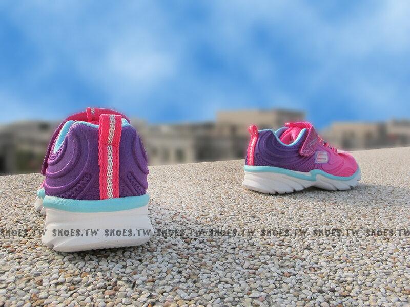 [最後一雙:14cm]《下殺5折》Shoestw【81702NNPPR】SKECHERS 小童鞋 桃紅紫 黏帶 魔鬼氈 童鞋 2