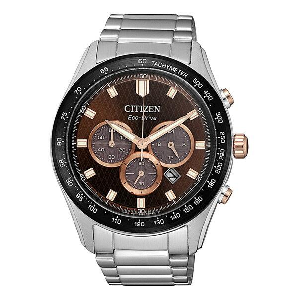 富茂鐘錶 CITIZEN Eco-Drive 亞洲限定三眼計時光動能腕錶 43mm /  CA4456-83X