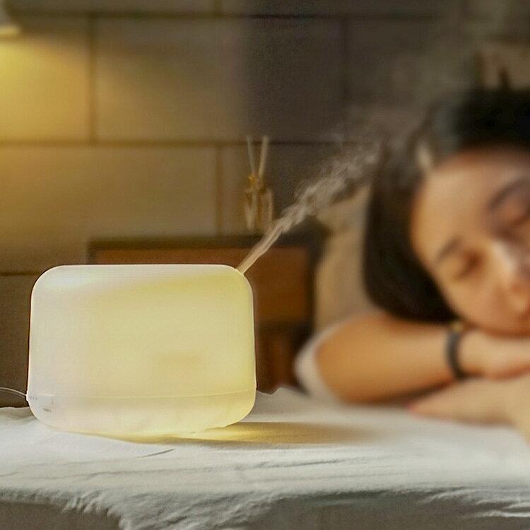 無印超聲波加濕器香薰燈精油擴散霧化器香氛機擴香機小夜燈香薰機