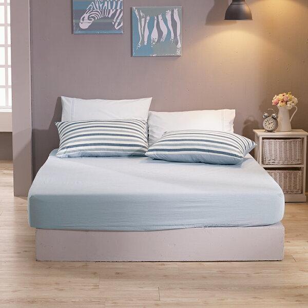 床包枕套單人床包組色織水洗棉希爾達[鴻宇]台灣製2112