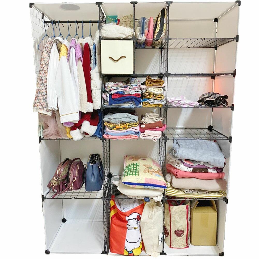 《齊天大師》14英吋載重衣櫃 收納櫃子 百變組合衣櫥 組合收納櫃 防塵防潮組合衣櫃 組合儲物櫃 房間 衣櫃 簡易衣櫃