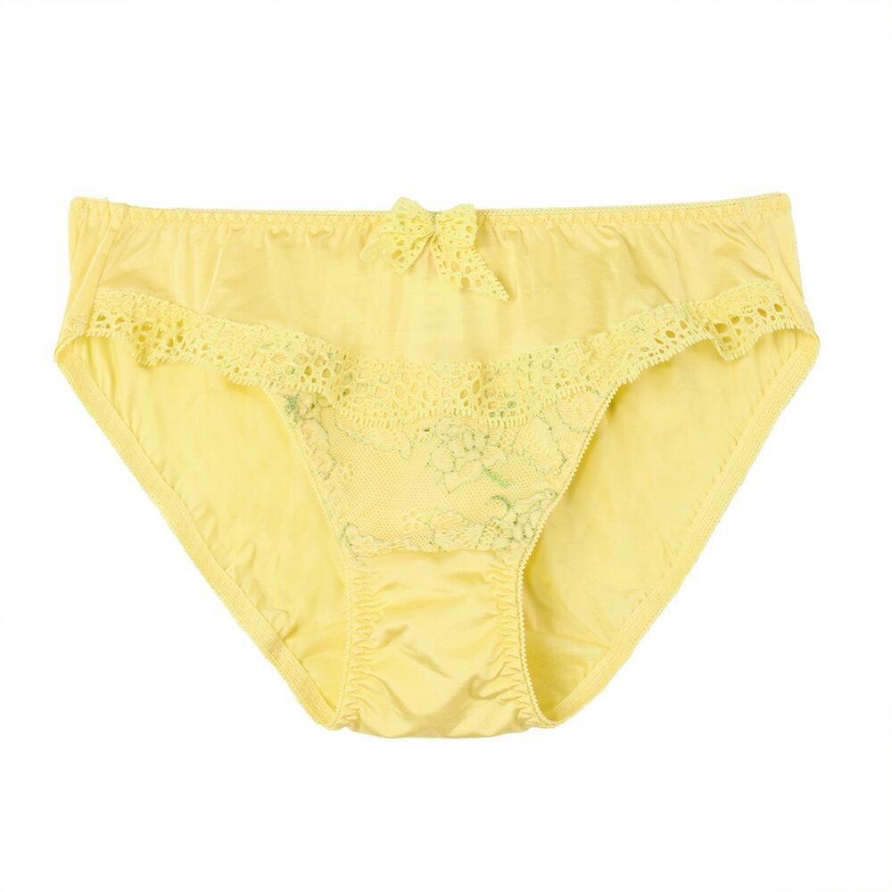 【Emon】挺胸 蝶形系列三角褲(玫瑰黃) 2