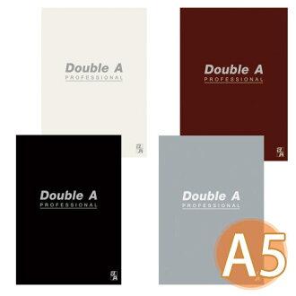 【Double A 】 A5/25K 膠裝筆記本 DANB121 辦公室系列 (橫線/左開/40頁)