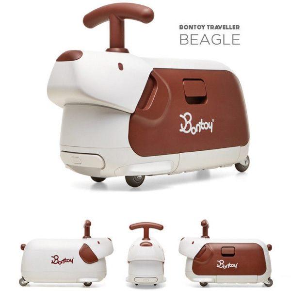 韓國 Bontoy Traveller 紅點設計美學騎乘行李箱(5款可選) 2