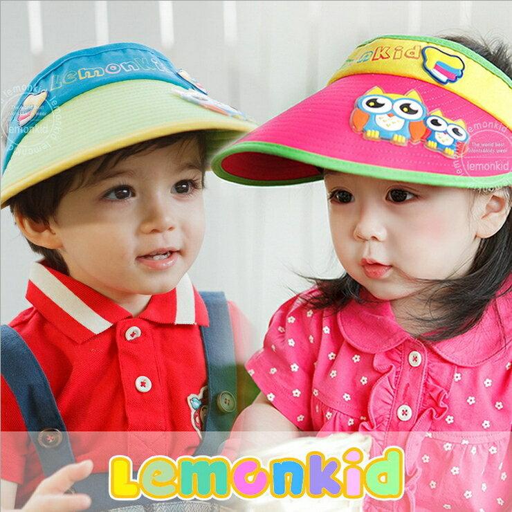 Lemonkid◆正韓亮眼果色親子貓頭鷹寶寶兒童帽空頂遮陽帽