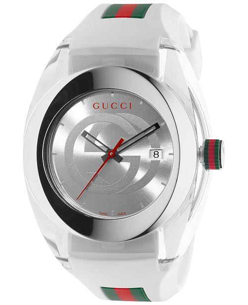 b9a2ed6a4f6 ambvariety  Gucci SYNC XXL YA137102 Men Watch White
