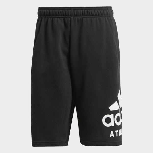 AdidasSIDAthleticsLogo男裝短褲慢跑休閒棉質黑【運動世界】CF9562