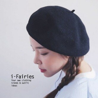 整點特賣♥樂天獨家Supersale 立體型貝雷帽畫家帽羊毛帽子★ifairies【SL26645】
