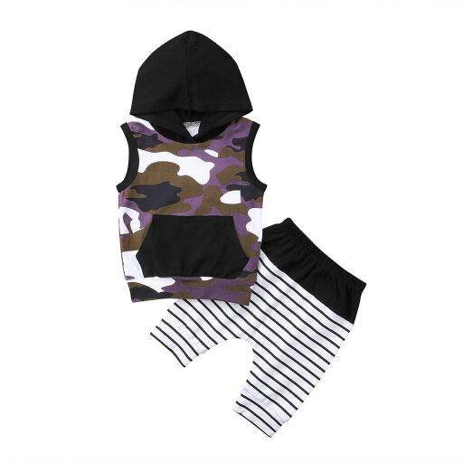 2018 Toddler Kid Baby Boys Top T-shirt Camo Pants 2Pcs Outfits Set Clothes 0-24M thumbnail