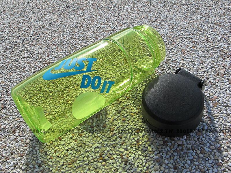 Shoestw【AC3790-735 】NIKE水壺 運動水壺 自行車水壺 無吸管 輕便型 JDI 螢光
