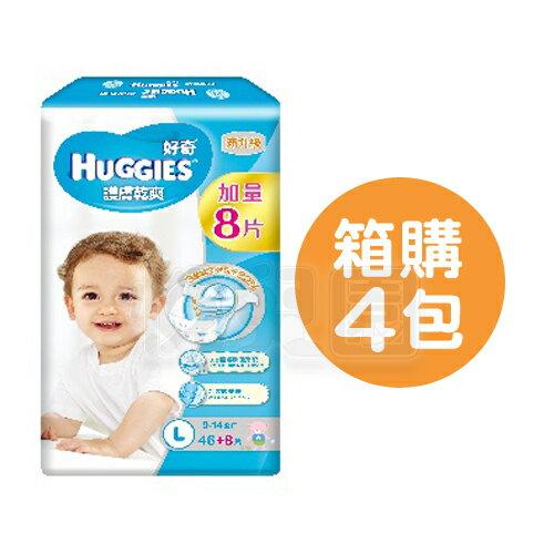 HUGGIES好奇pH5.5護膚乾爽紙尿褲L【箱購46+8片x4包】【悅兒園婦幼生活館】