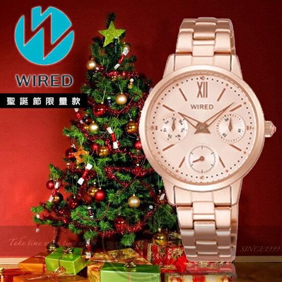WIRED日本原創聖誕節限量腕錶VD75-KMZ0KAY8042X1公司貨
