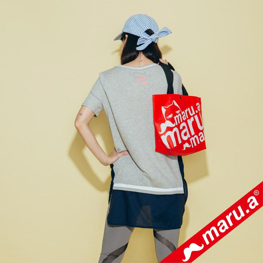 【maru.a】繽紛拼貼荷葉邊長版上衣(2色)8321315 4