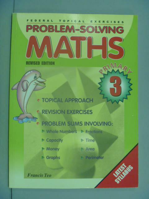 ~書寶 書T4/少年童書_ZAZ~Problem~Solving MATHS 3