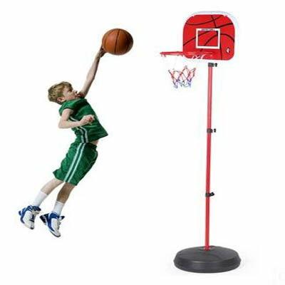 【2米鐵框大底座籃架配2球-1套組】便攜式兒童籃球架可升降移動家用玩具籃筐-5670709