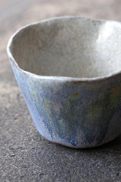 Tiner的手捏陶169號  灰藍色小咖啡杯