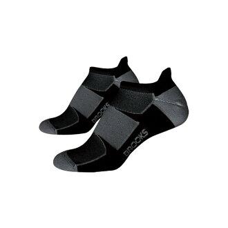 [陽光樂活]BROOKS 運動慢跑襪 (一組2雙) ESSENTIAL LOW TAB美國製-BK740273004 黑/灰