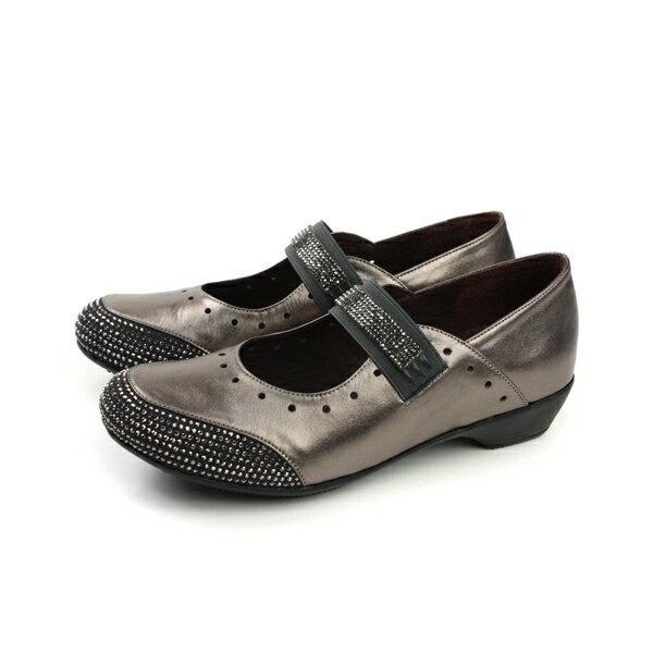 HUMAN PEACE:HUMANPEACE娃娃鞋懶人鞋休閒皮質古銅色女鞋3336-1no002
